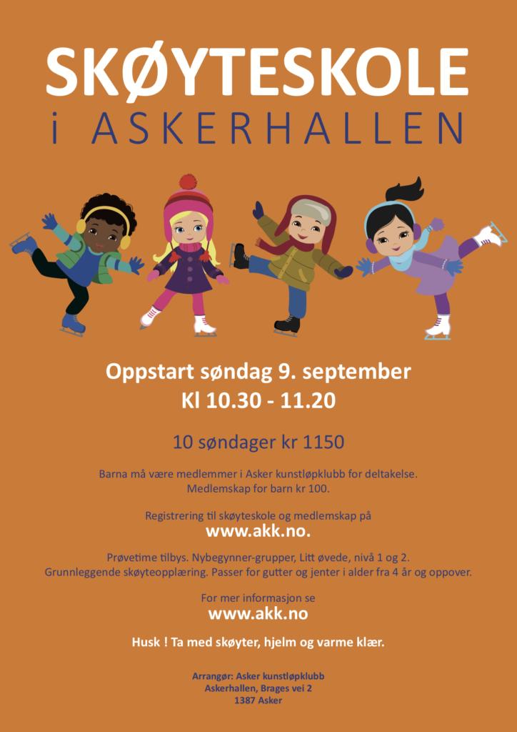 Plakat skøyteskole høst 2018